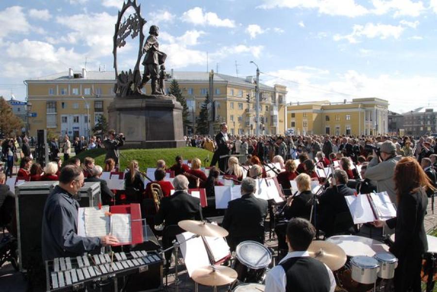 Открытие памятника Сеятелю.