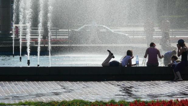 Жара в Барнауле.