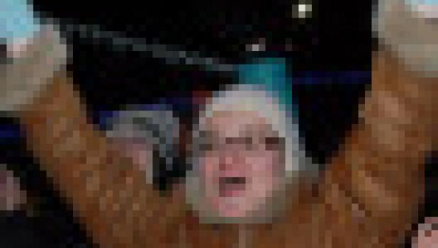 Праздник на площади Сахарова в честь эстафеты Олимпийского огня. Барнаул, 3 декабря 2013 года.