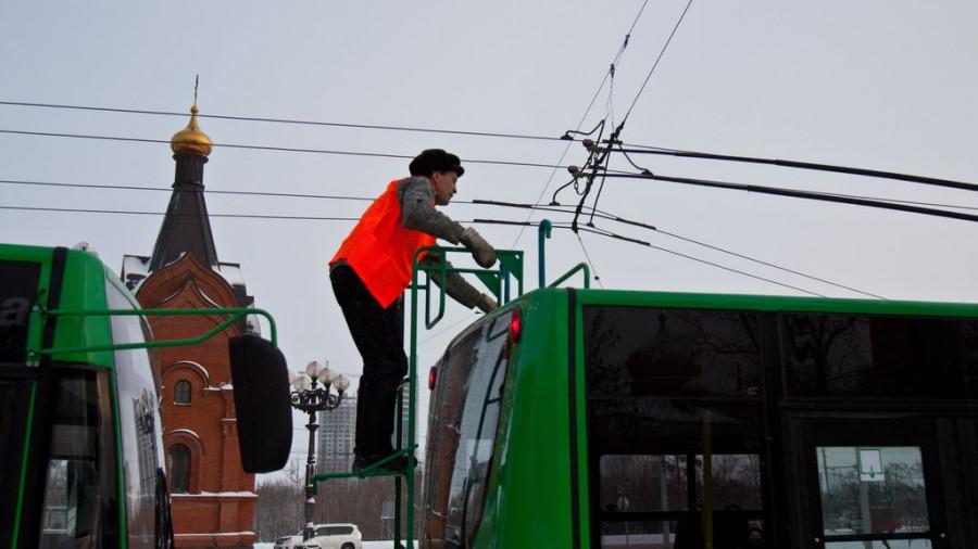 В Барнауле презентовали новые троллейбусы.