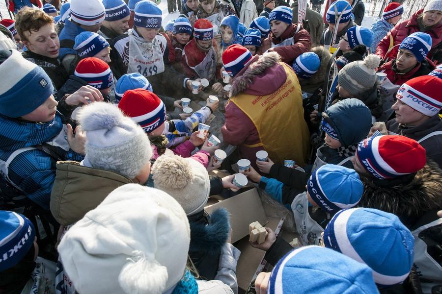 Лыжня России в Барнауле. 9 февраля 2014.