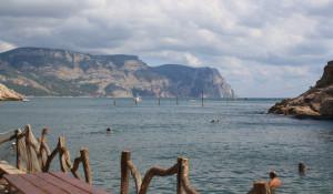 Балаклава, Крым. Вид с Мраморного пляжа.