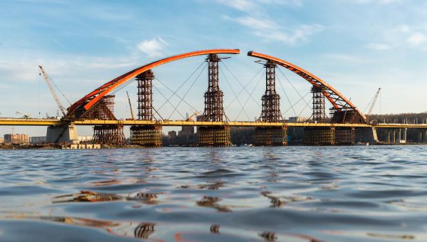Бугринский мост, Новосибирск.