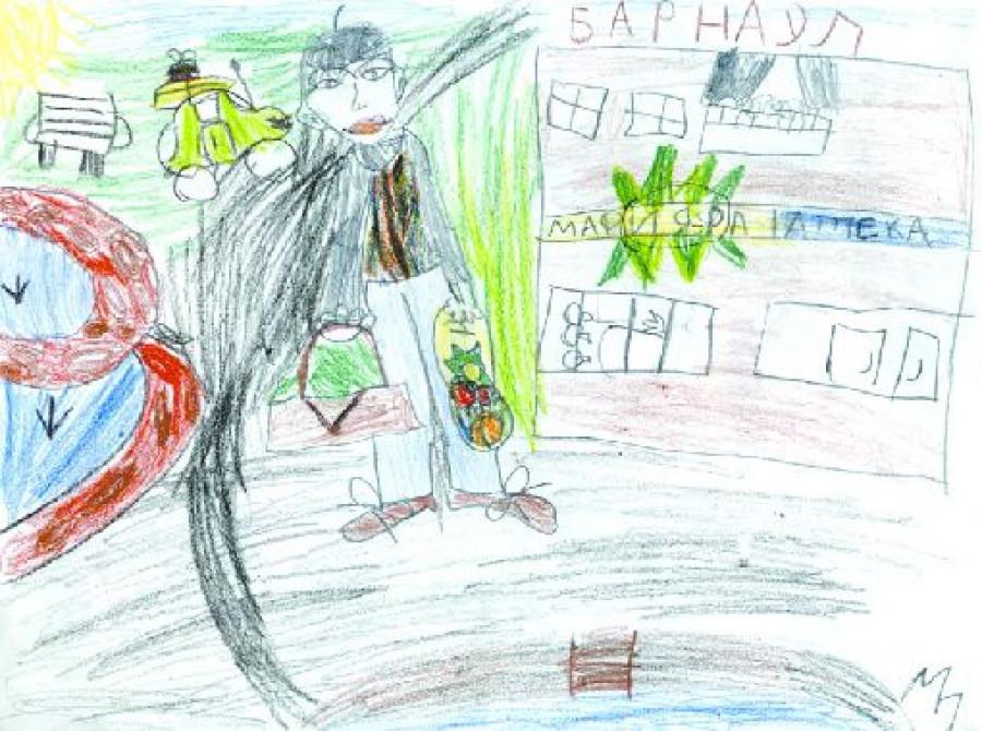 """""""Путин идёт в магазин"""". Никитина Лариса, 6 лет, г. Барнаул"""