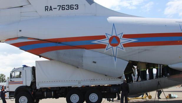 В Алтайский край доставили гуманитарную помощь.