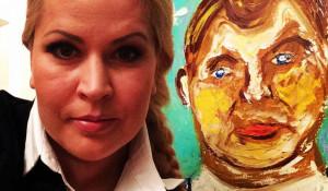 """""""Я и Сердюков"""". Евгения Васильева, холст, масло."""
