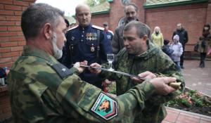 Верстание в казаки. Барнаул, 21 сентября 2014 года.