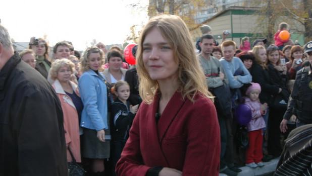 Открытие детской площадки в Бийске, 11 октября 2009г.