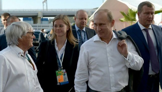 Владимир Путин на сочинском этапе Формулы-1.