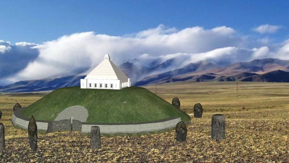 Житель Алтая представил эскиз мавзолея-кургана для принцессы укока.