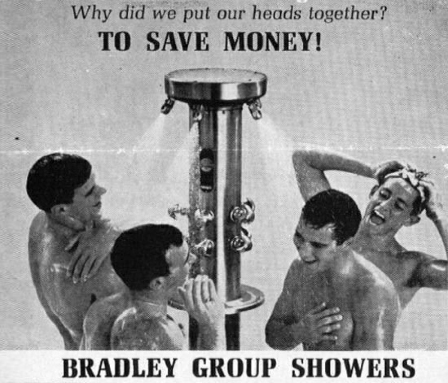 """Душ от Bradley Group """"Почему мы моемся вместе? - Чтобы сэкономить деньги!"""""""