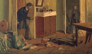 """Иллюстрация к роману """"Преступление и наказание"""". Николай Каразин, 1893"""