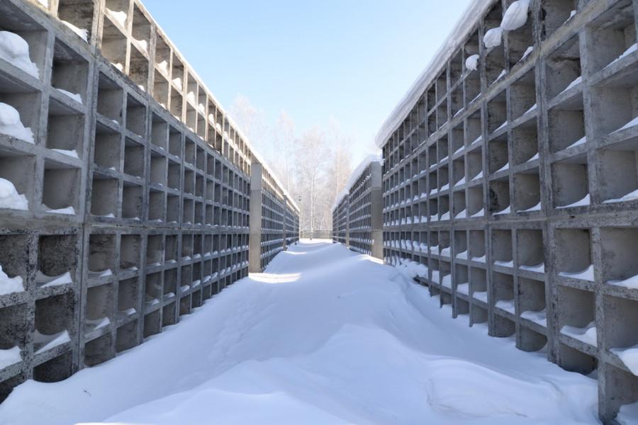 Барнаульский крематорий. 26 января 2015.