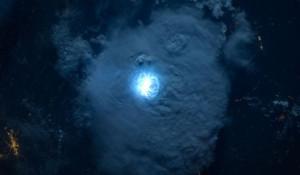Молния из космоса.