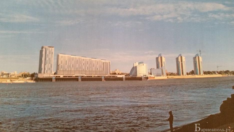 Проект жилого комплекса на месте Речного вокзала.