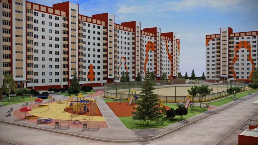 """Проект жилого района в Новосибирске, который застраивает """"ВИРА-строй""""."""