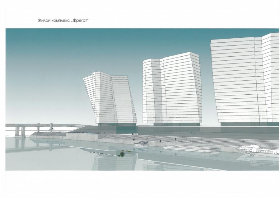 Новый проект застройки территории Речного вокзала.