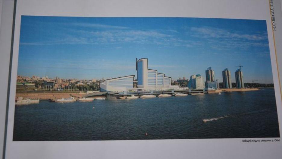 Проект Речного вокзала презентовали на градостроительном совете.