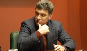 Борис Немцов в Барнауле осенью 2007 года.