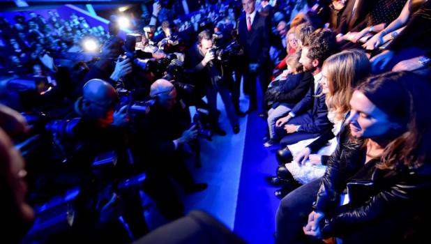 Наталья Водянова на показе мод.