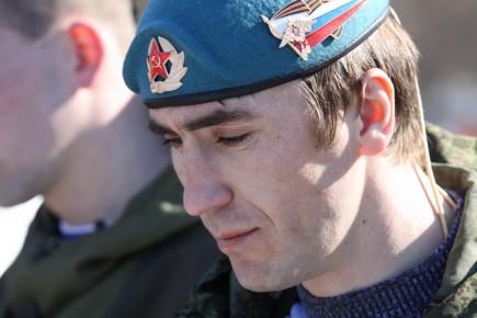 Прощание и похороны ополченца Ивана Королькова. Барнаул, 7 марта 2015 года.