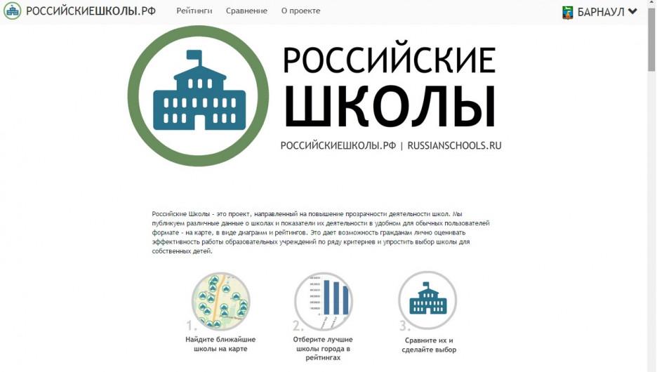 """Проект """"Российские школы""""."""