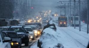 Пробки. Зима в Барнауле.