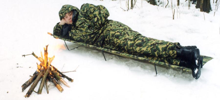 """""""Надежда"""" - раскладушка разборная походная, производство НПО Специальных материалов, используется в войсках."""
