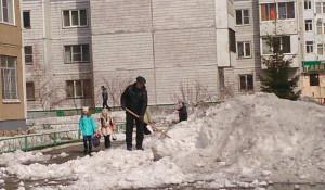 """""""Чистый четверг"""" в Центральном районе Барнаула."""