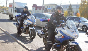Мотоцикл ГИБДД в Барнауле