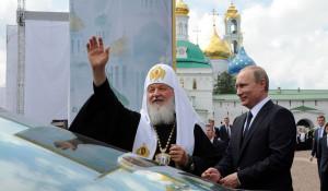 Патриарх Кирилл и Владимир Путин.