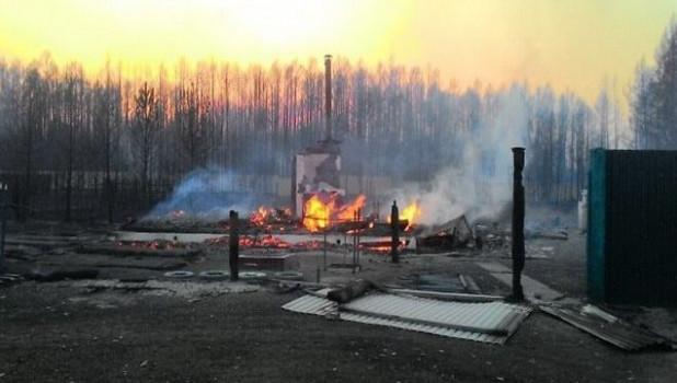 Под Читой горят леса и поселки.