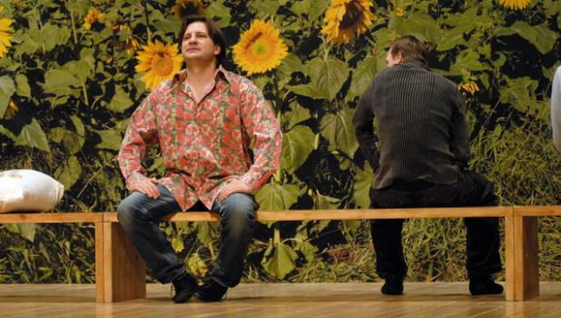 """Репетиция спектакля """"Рассказы Шукшина"""" на сцене краевого театра драмы. Барнаул, 7 декабря 2009 года."""
