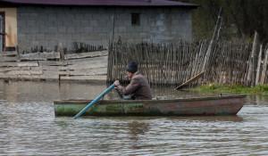 Паводок в Затоне, 30 апреля 2015 года.
