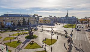 Площадь Октября в Барнауле.