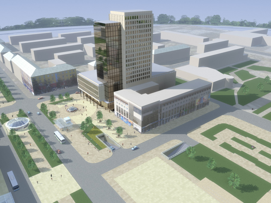 Архитекторы предложили десятки вариантов комплекса на месте ЦУМа. Предлагаем три из них.