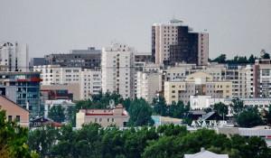 Вид на Барнаул и его недвижимость.