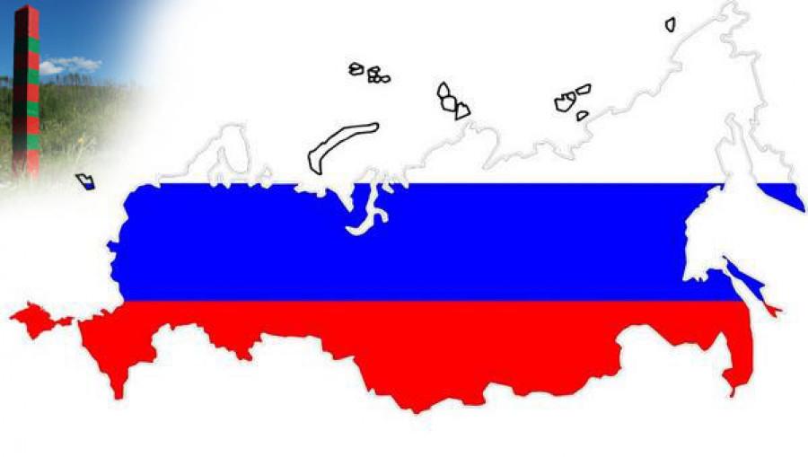 Карта России с Крымом.