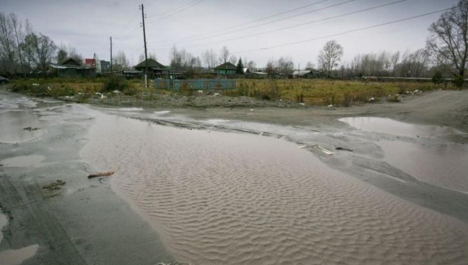 Быстрый Исток после большого алтайского наводнения.