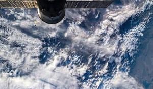 Вид на алтайские горы из космоса.