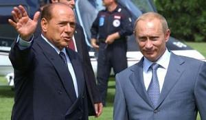 Сильвио Берлускони и Владимир Путин. Сардиния, 2003 год.