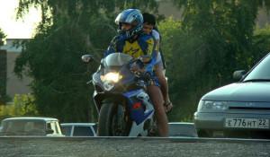 Мотоциклисты в Барнауле.