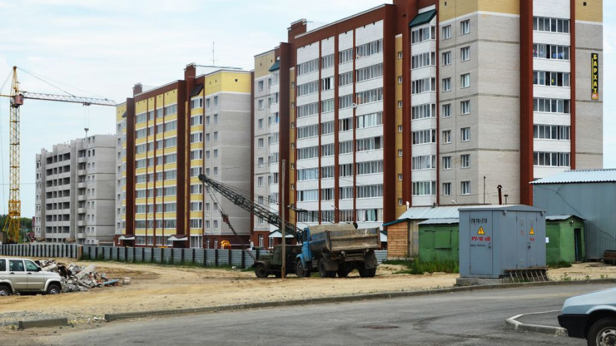 Стройка в Новоалтайске.