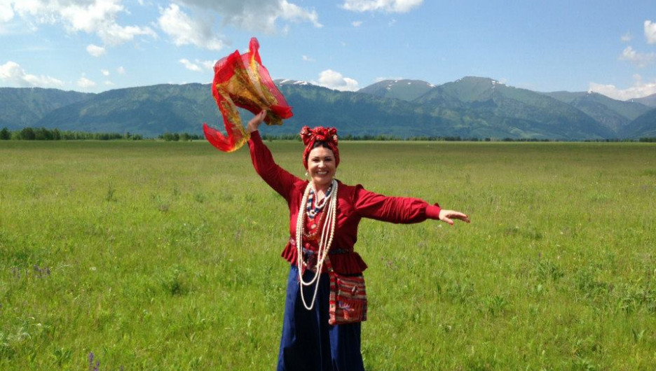 Надежда Бабкина на Алтае.