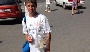 """Волонтер благотворительного фонда """"Русь""""."""