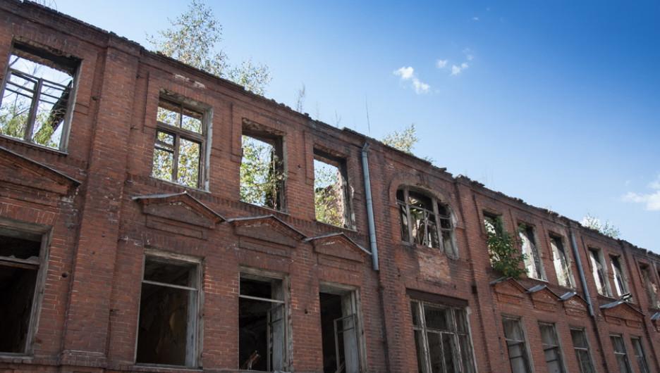 Фотограф свысоты снял «экосистему» заброшенного особняка втуркластере Барнаула