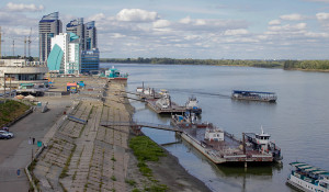 Так выглядит нынешний причал-набережная в Барнауле. Август, 2015.