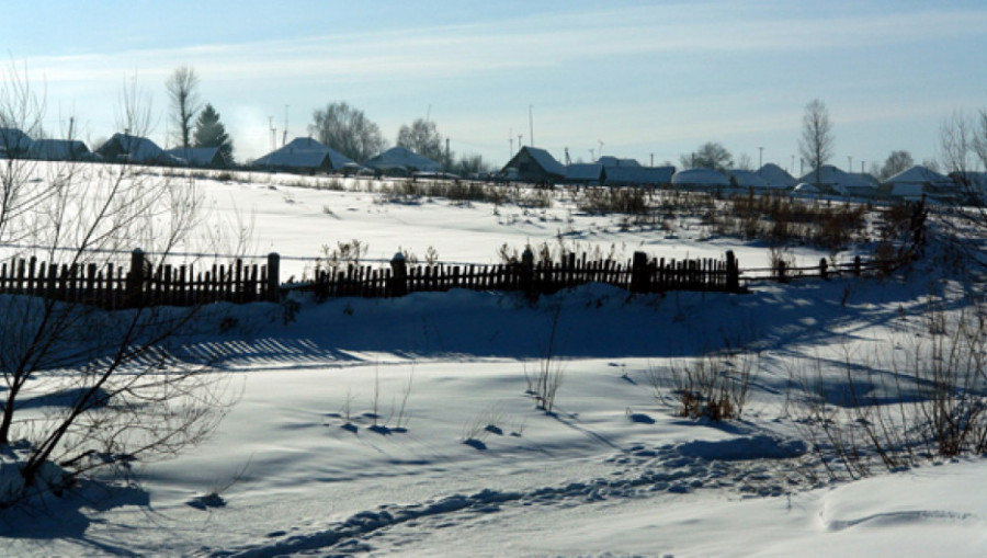 В алтайском селе.