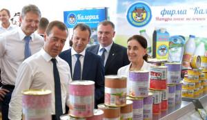 Дмитрий Медведев и отечественные продукты.