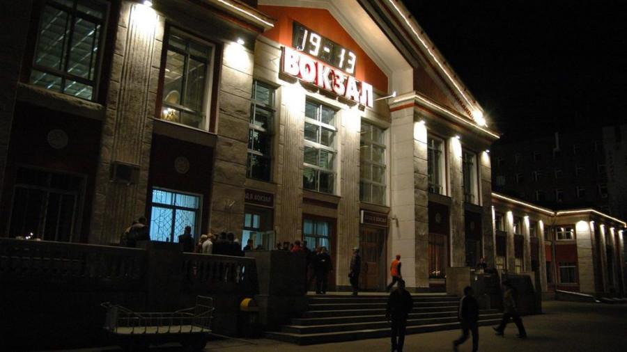 Железнодорожный вокзал в Барнауле.